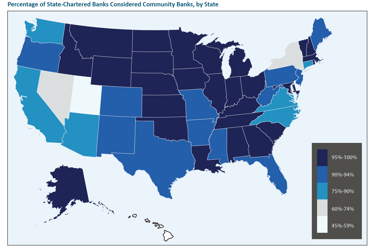 Map of State Chartered Banks